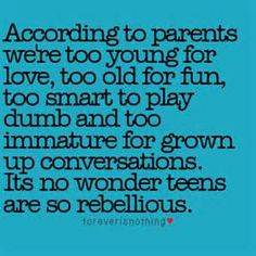 parents, but not all of them. Teens may be young, but I value and respect them. Their thoughts and feelings are very real. I always try to be a good listener and let them talk. You'd be surprised to hear all they have on their mind. Now Quotes, Quotes Thoughts, Thoughts And Feelings, Girl Quotes, Teenage Life Quotes, Sad Teen Quotes, Teenager Quotes About Life, Teen Life, Attitude Quotes