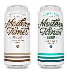 Modern Times Beer  - The Dieline -