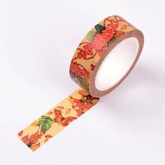 10m roll Vintage style botanical Washi Tape 15mm wide