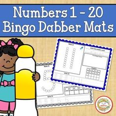 Number Mats 1 to 20 Bingo Dabber by Sweetie's | Teachers Pay Teachers Elementary Math, Kindergarten Math, Teaching Math, Bingo Dabber, Counting Bears, School Reviews, Learn To Count, Number Words, Counting Activities