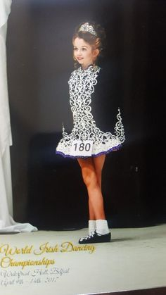 Sublime Black Siopa Rince Irish Dance Dress Solo Costume For Sale