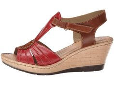 Lobo Solo Melly T Red/Nude Leather - Zappos.com Free Shipping BOTH Ways