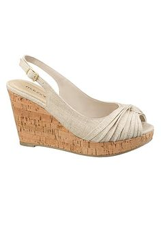 Rachel canvas knot wedge (original price, $29) available at #Maurices