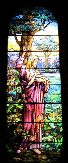 detail of Resurrection window (by Tiffany Studios) at St. Mark's Lutheran Church, Baltimore