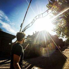 --- Photo by @Bruno Pasquale --- Auschwitz I. The main gate.  Original caption: 'Auschwitz símbolo do terror genocídio e holocausto. Construído pelos nazistas em 1940 o campo de concentração é um local aterrorizador onde mais de um milhão de pessoas morreram mas sua preservação é necessária para compreendermos o quanto a humanidade pode ser estúpida'