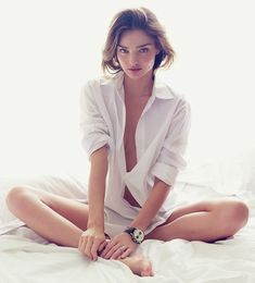 Miranda Kerr, boudoir with white shirt Boudoir Poses, Boudoir Photography, Fashion Photography, Bedroom Photography, Victoria Secrets, Miranda Kerr Feet, Ideas Para Photoshoot, Photoshoot Inspiration, Regard Intense