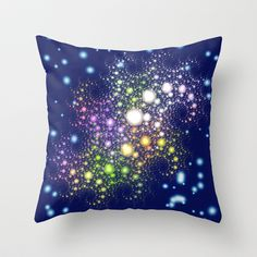 Space Pearls Throw Pillow by Wendy Townrow - $20.00 space, pearl, circle, night, fractal, design, pattern, abstract