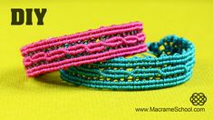 Reflective Macramé Bracelet with Light Reflecting Thread ☼