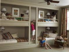 excellent idea for multiple siblings room..or the envied room of a teenage girl