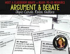 006 Debate TopicsWorksheets. Argumentative writing? Reading