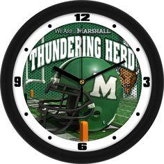 Mens Marshall University Thundering Herd - Football Helmet Wall Clock
