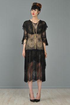 Modern Flapper Dress | ... Collar 1920s Lace Flapper Dress | ... | All the Pretty Dresses