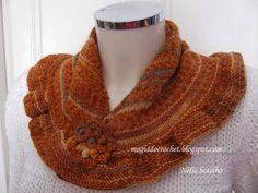 Magia do Crochet: Lenço ou pequeno xaile em tricot