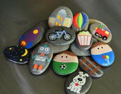 Este conjunto de 12 piezas de piedras de la historia es por mucho mi favorita. ¿Por qué, usted pregunta? Ya que contiene una colección