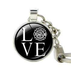 Firefighter Love Keychain