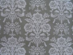 Pale Grey & White Damask Contact Paper
