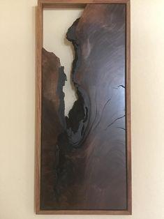 Live Edge Black Walnut Wall Art Eagle Ridge | Etsy