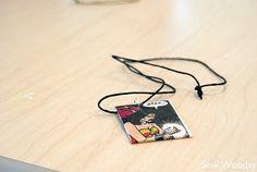 comic book necklace