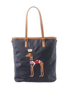 Hazzy's bag with a dog in Union Jack