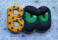 Boo Cookie<3 decorated cookies