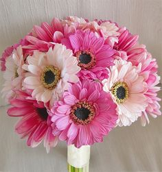 Pink Natural Touch Gerbera Daisy Bouquet - Mix Colors!
