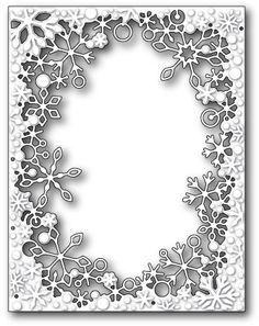 Memory Box Dies 99281 - Dancing Snowflake Frame - similar to Poppystamps Dancing Snowflake Frame Memory Box Cards, Memory Box Dies, Memory Frame, Memories Box, Kirigami, Paper Art, Paper Crafts, Laser Paper, Card Making Supplies