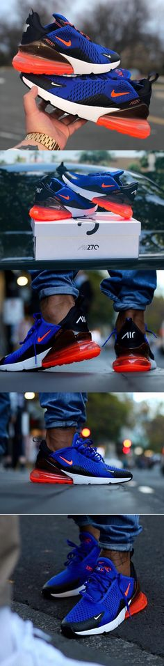 #Nike Air #Max 270 #Racer #Blue