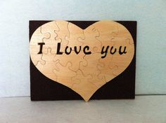 Wooden Puzzle I Love You Love Decorating, $9.99