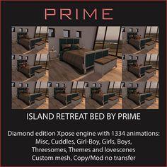Island Retreat Diamond bed by PRIME