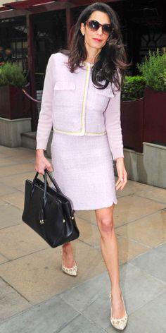 *EXCLUSIVE* Amal Clooney looks elegant as usual **USA ONLY**