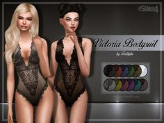 Sims 4 CC's - The Best: Victoria Bodysuit Set by Trillyke