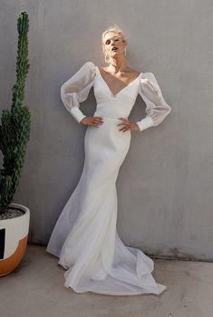 Princess Wedding Dresses, Boho Wedding Dress, Dream Wedding Dresses, Bridal Dresses, Bridesmaid Dresses, Mermaid Wedding, Karen Willis Holmes, Dress Vestidos, Long Sleeve Wedding