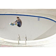 Friday pool party?  Alain Goikoetxea is already in the deep end airing frontside over the ladder at La Kentera.