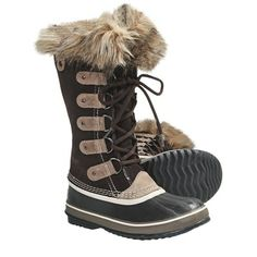 Sorel Joan of Arctic Winter Boots - Waterproof (For Women) Hawk (brown). Love the dark chocolate color