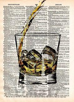 Whiskey splash art, pour yourself some whiskey, man cave art, bourbon splash art - - 2