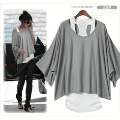 Grey Loose Fashion Vest T-shirt ♡