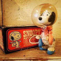 スヌーピー アストロノーツ  1969s 箱ダメージあります☆   #スヌーピー   #snoopy  #アメリカン雑貨   #ピーナッツ   #インディヒナ