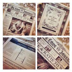 Country Wedding Invitations | Vintage-Wedding-Invites-Newspaper-Style-Wedding-Invitations.jpg