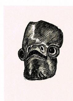 It's a trap! a drawing I did of Admiral Ackbar a while ago.