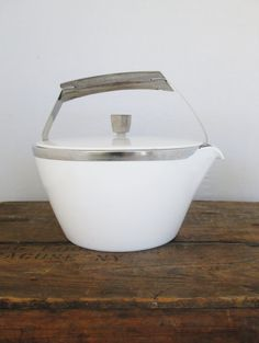 Vintage Tea Pot Mid Century Corningware by TheDustyOldShack