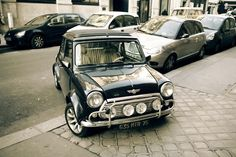 My car of choice is a MINI Cooper.  It is what I drive.  This vintage model couldn't be cuter.  It is my favorite pin on my board called:  On The Road.