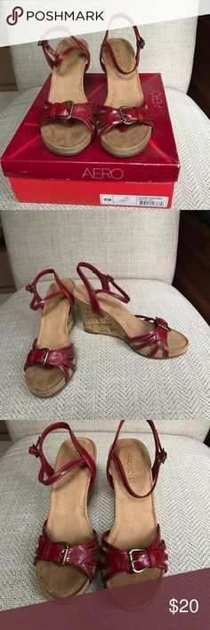 Aerosoles red wedge sandals NIB Aerosoles red wedge sandals.  I own these in the brown ones and they are super comfortable but never wore the red ones.  Check out my other listings for more shoes in size 8! AEROSOLES Shoes Wedges