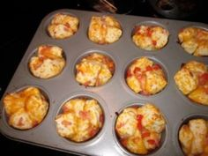 Cheesy Ham Biscuit Muffins