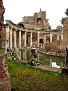Roman emperor Hadrian's Villa, east of Rome, Italy.