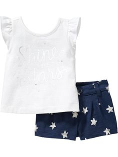 Graphic Tee & Short Sets for Baby