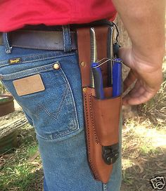 Lonestar Leather belt pouch inc. Crescent pliers and cutters farm rural fencing