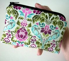 Padded Zipper Pouch NEW Eco Friendly Eclectic Garden Coin Purseby JPATPURSES, $8.00
