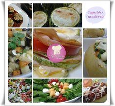 Sugestões leves e deliciosas http://www.anaclaudianacozinha.com/2013/09/sugestoes-de-legumes-e-saladas.html