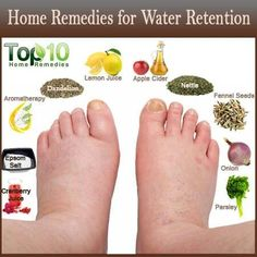 Suffer from water retention and swollen feet? Try these.