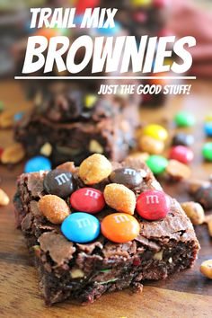 Trail Mix Chocolate Fudge Brownies with M&M's® Candies!